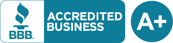 We are a BBB Accredited Business with an A+ rating.